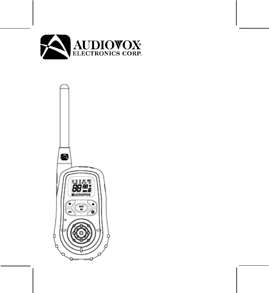Audiovox Two-Way Radio GMRS2572CH User Guide