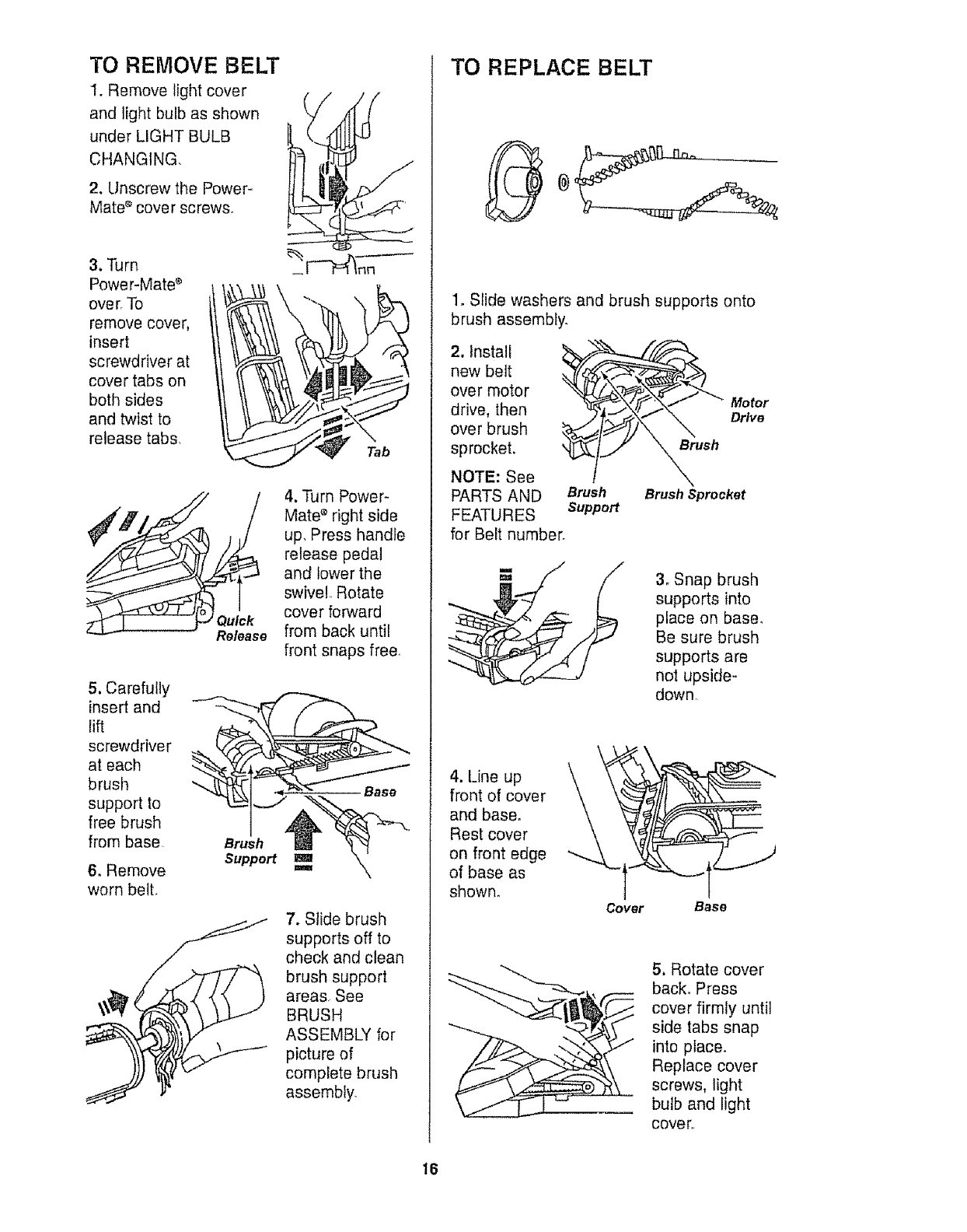 Page 16 of Kenmore Vacuum Cleaner 116.20512 User Guide