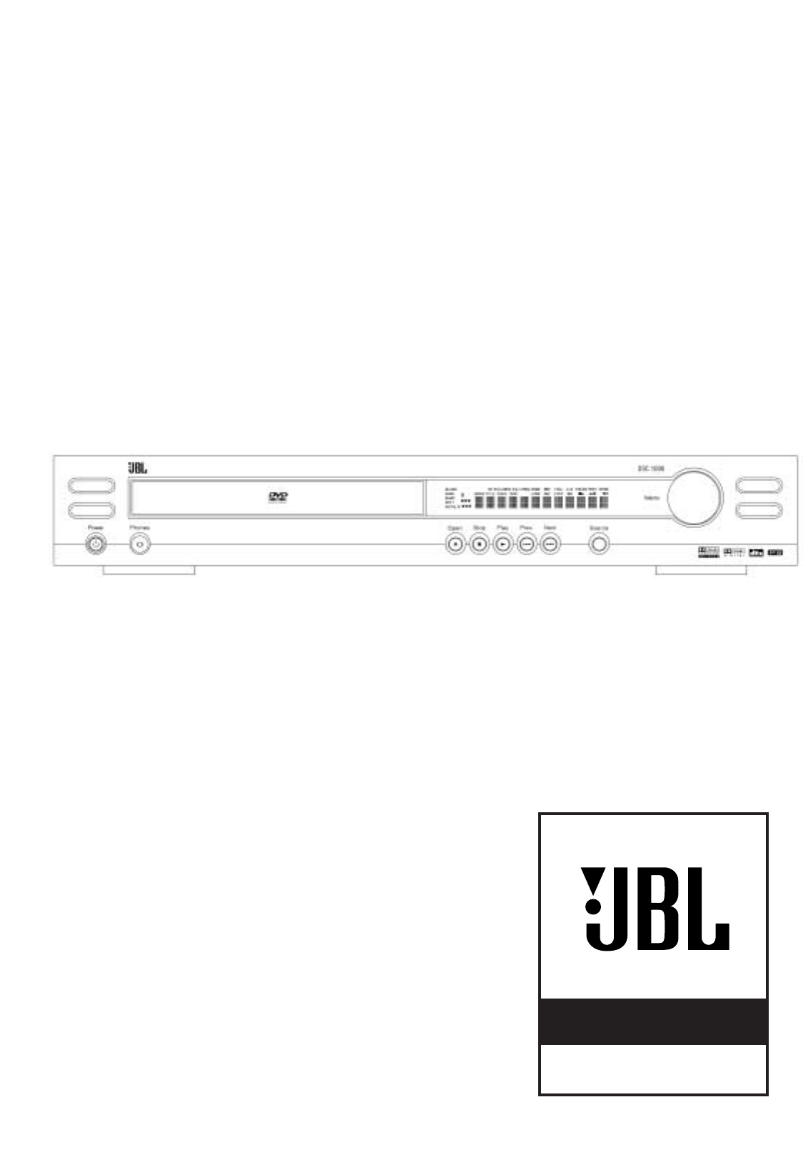 JBL Home Theater System DSC 1000 User Guide