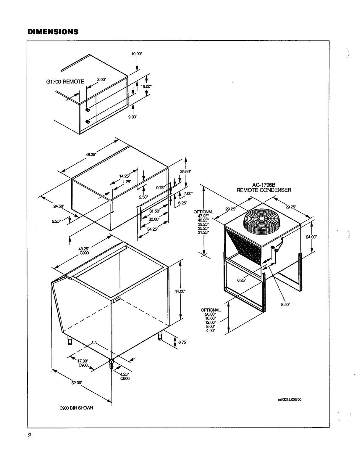 Page 2 of Manitowoc Ice Maker GD-1792N User Guide