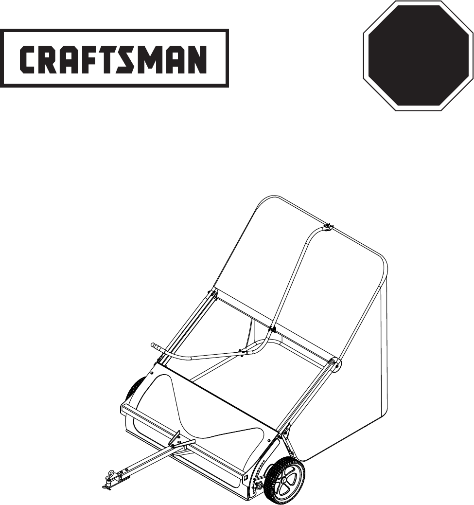 Craftsman Lawn Sweeper 486.24029 User Guide