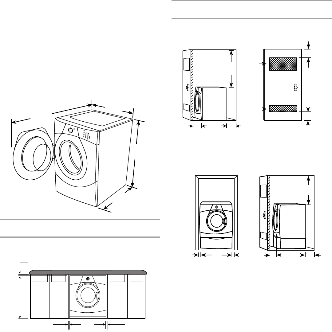 Page 5 of Whirlpool Washer WFW8300SW1 User Guide