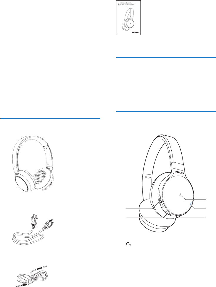 Page 5 of Philips Headphones SHB9150 User Guide