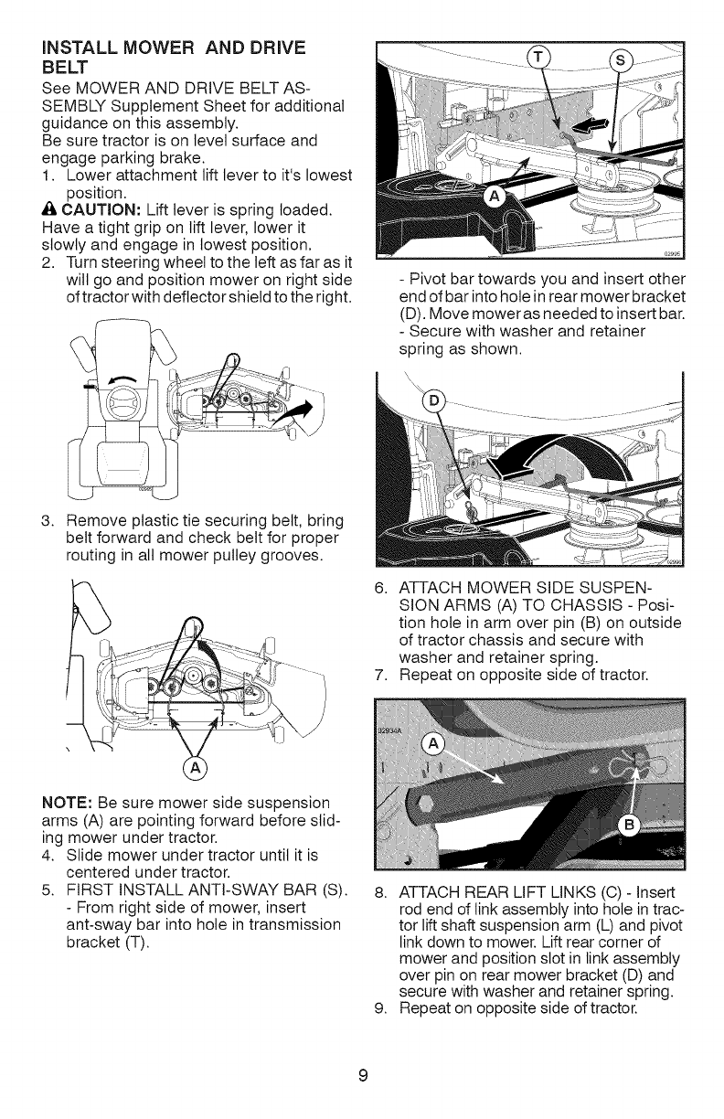 Page 9 of Craftsman Lawn Mower YT 4500 User Guide