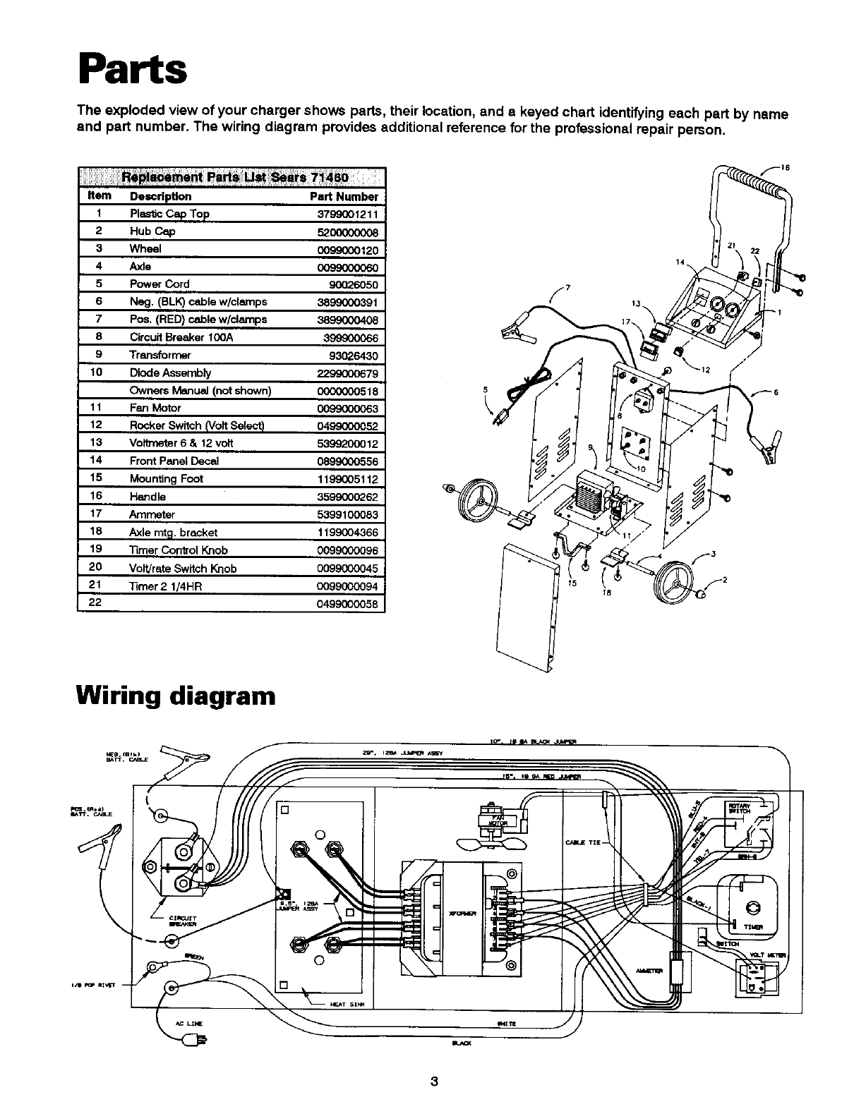 Page 4 of Sears Battery Charger 200.71460 User Guide