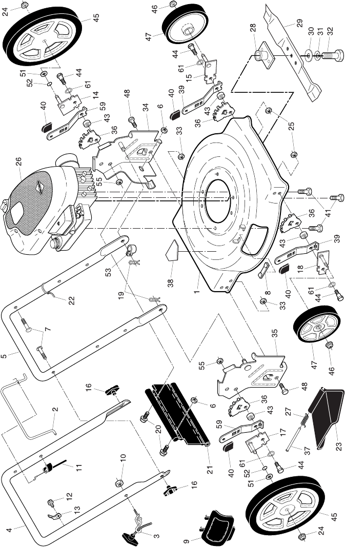 Page 2 of Poulan Lawn Mower PR550N22SH User Guide