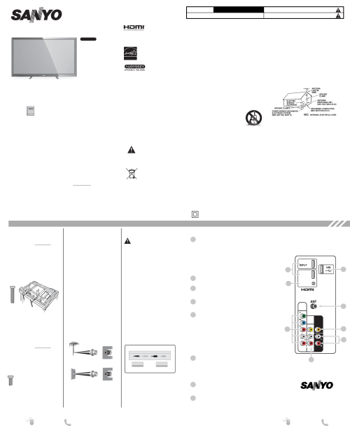 small resolution of sanyo flat panel television dp50842 user guide manualsonline com sanyo tv wiring diagram