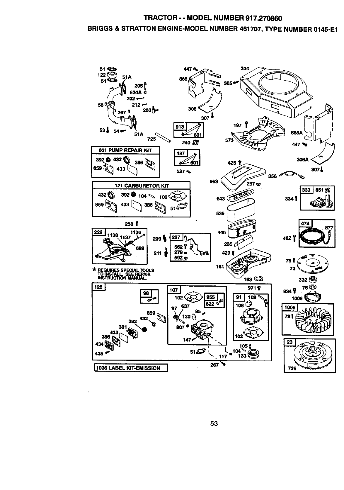 Page 53 of Craftsman Lawn Mower 917.27086 User Guide