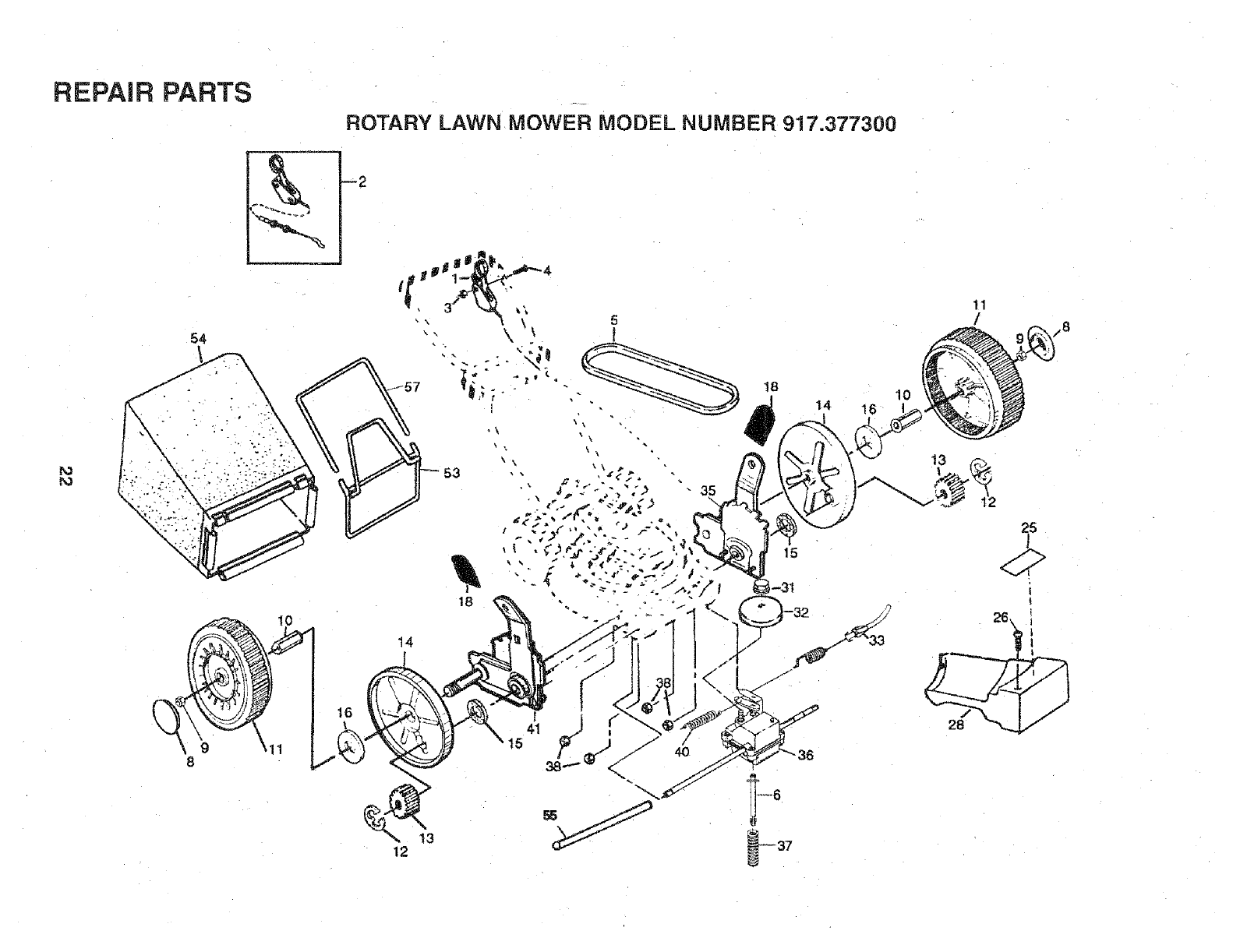Page 22 of Craftsman Lawn Mower 917.3773 User Guide