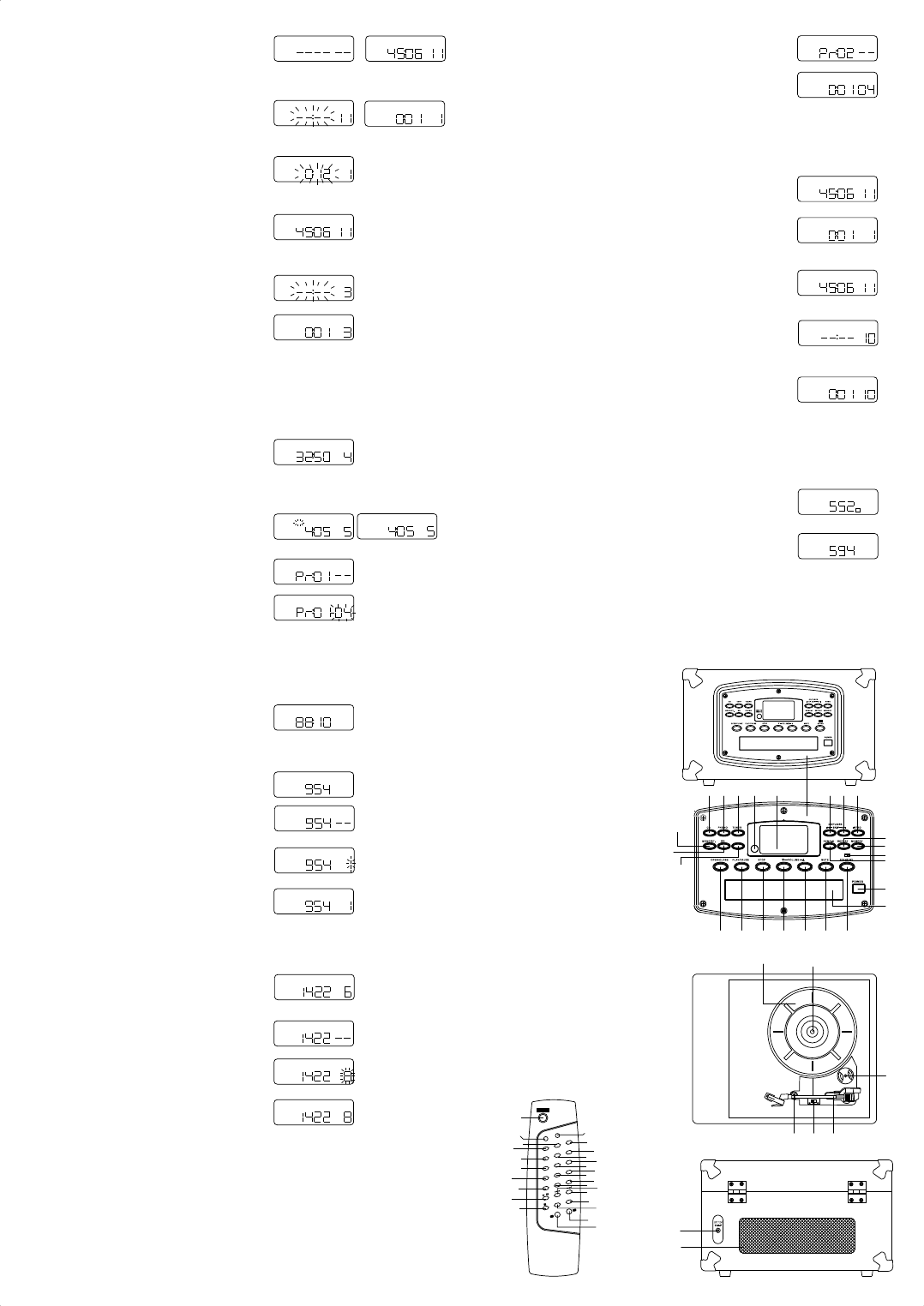 Page 2 of Crosley Turntable CR 54 CD User Guide