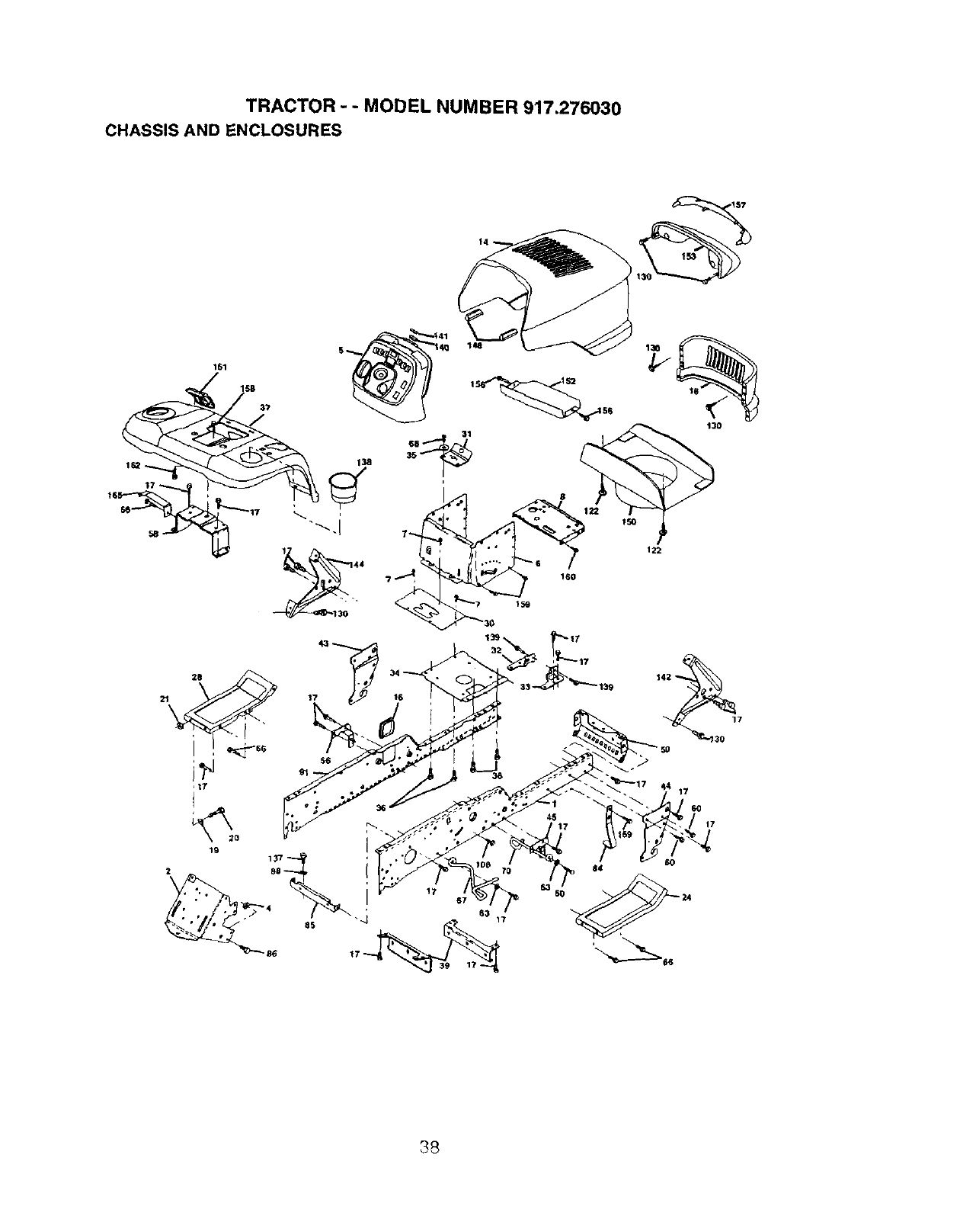 Page 38 of Craftsman Lawn Mower 917.27603 User Guide