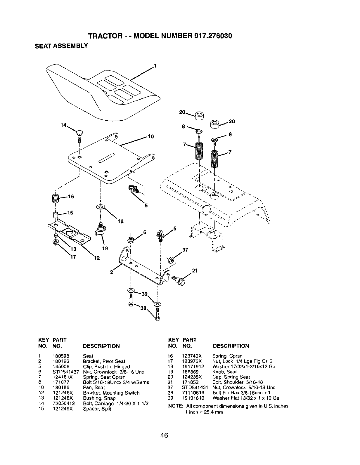 Page 46 of Craftsman Lawn Mower 917.27603 User Guide