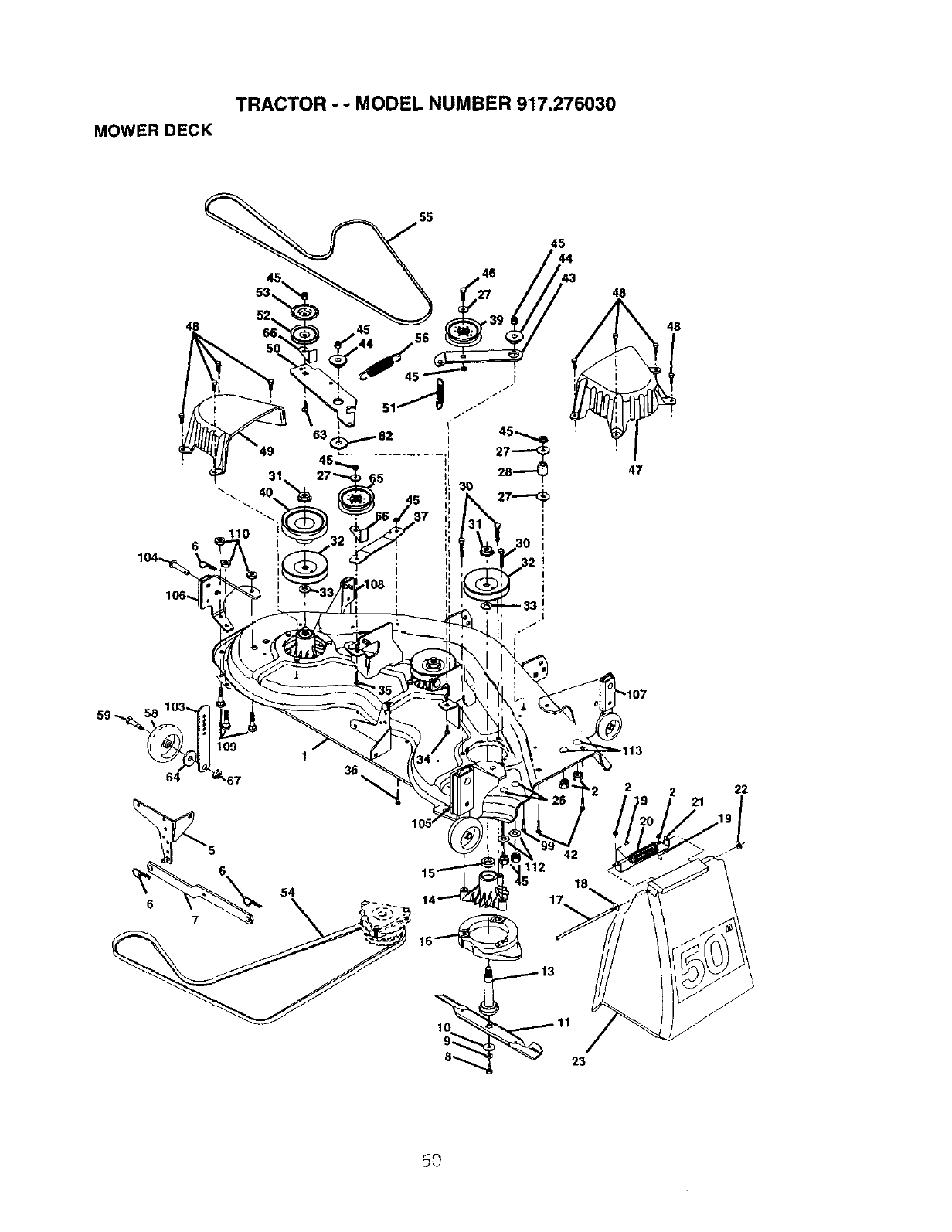 Page 50 of Craftsman Lawn Mower 917.27603 User Guide