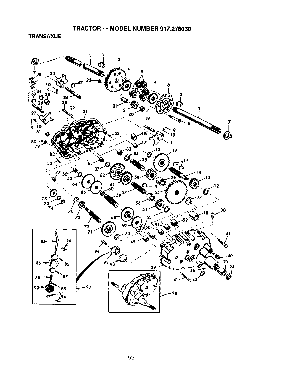 Page 52 of Craftsman Lawn Mower 917.27603 User Guide