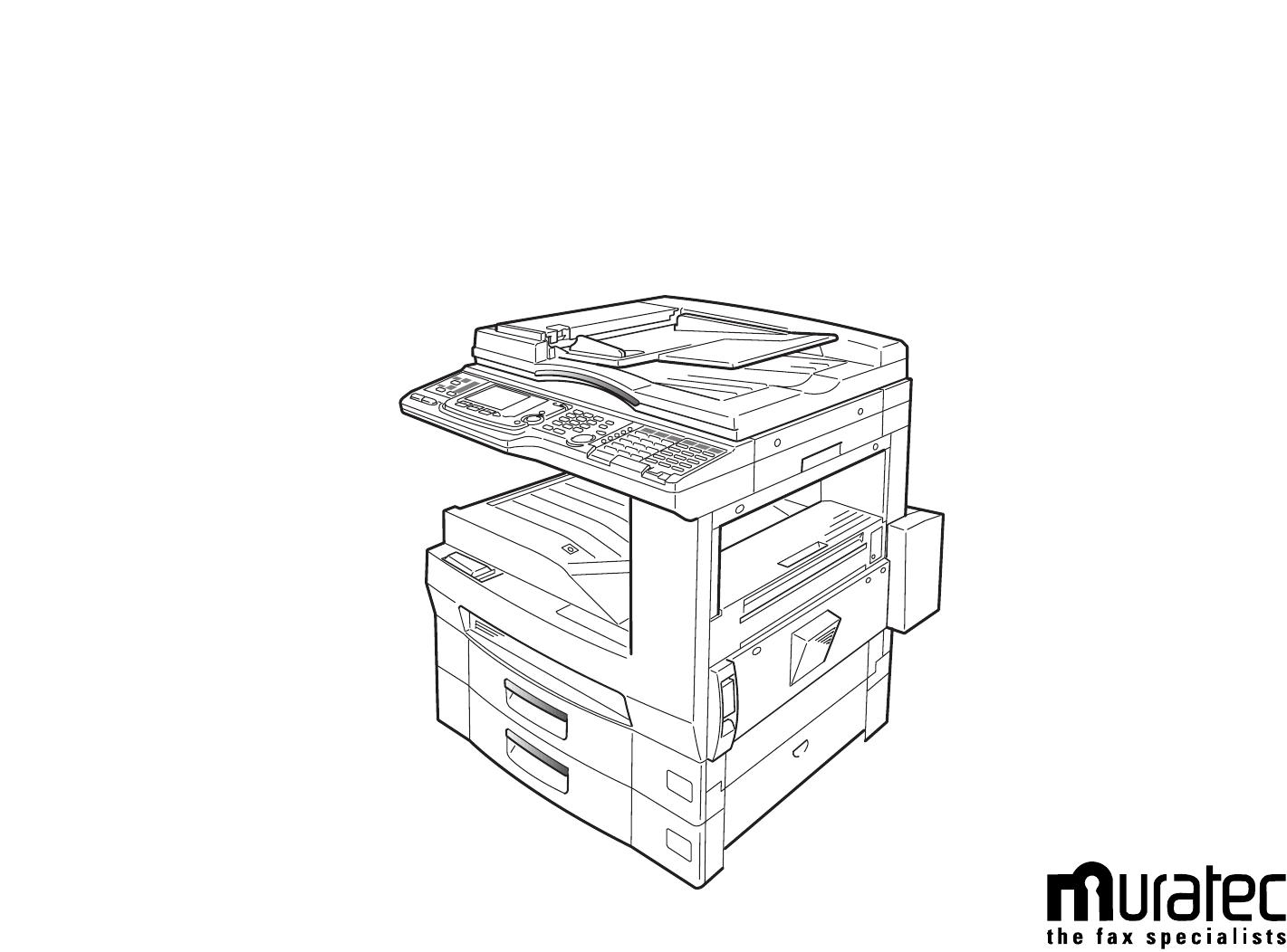 Muratec Fax Machine Mfx User Guide