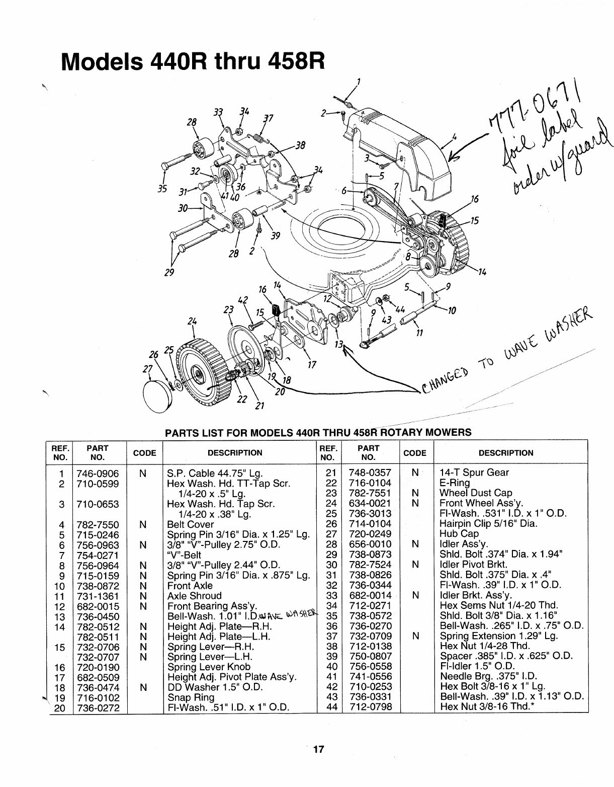 Page 17 of MTD Lawn Mower 122-440R000 User Guide