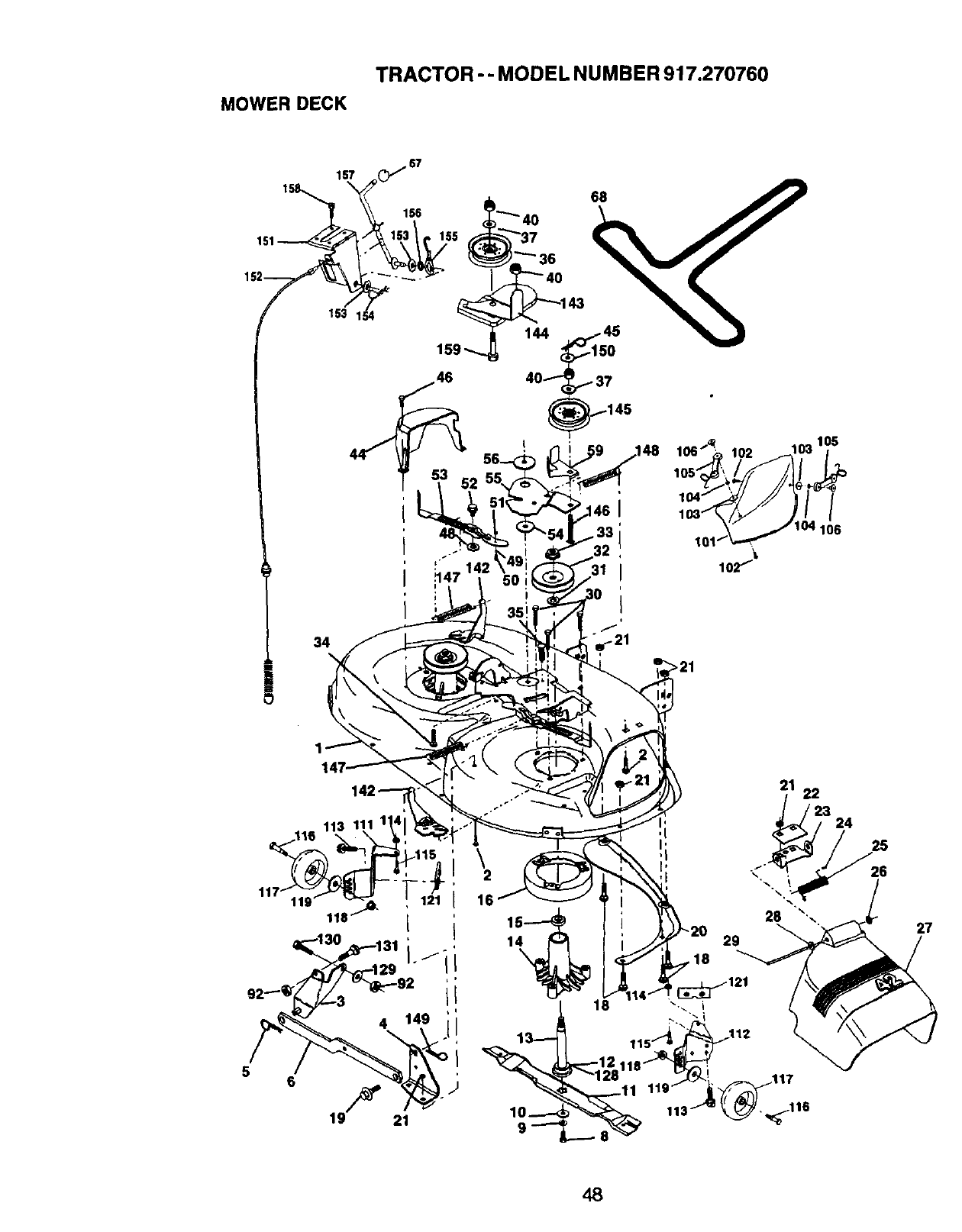 Page 48 of Craftsman Lawn Mower 917.27076 User Guide