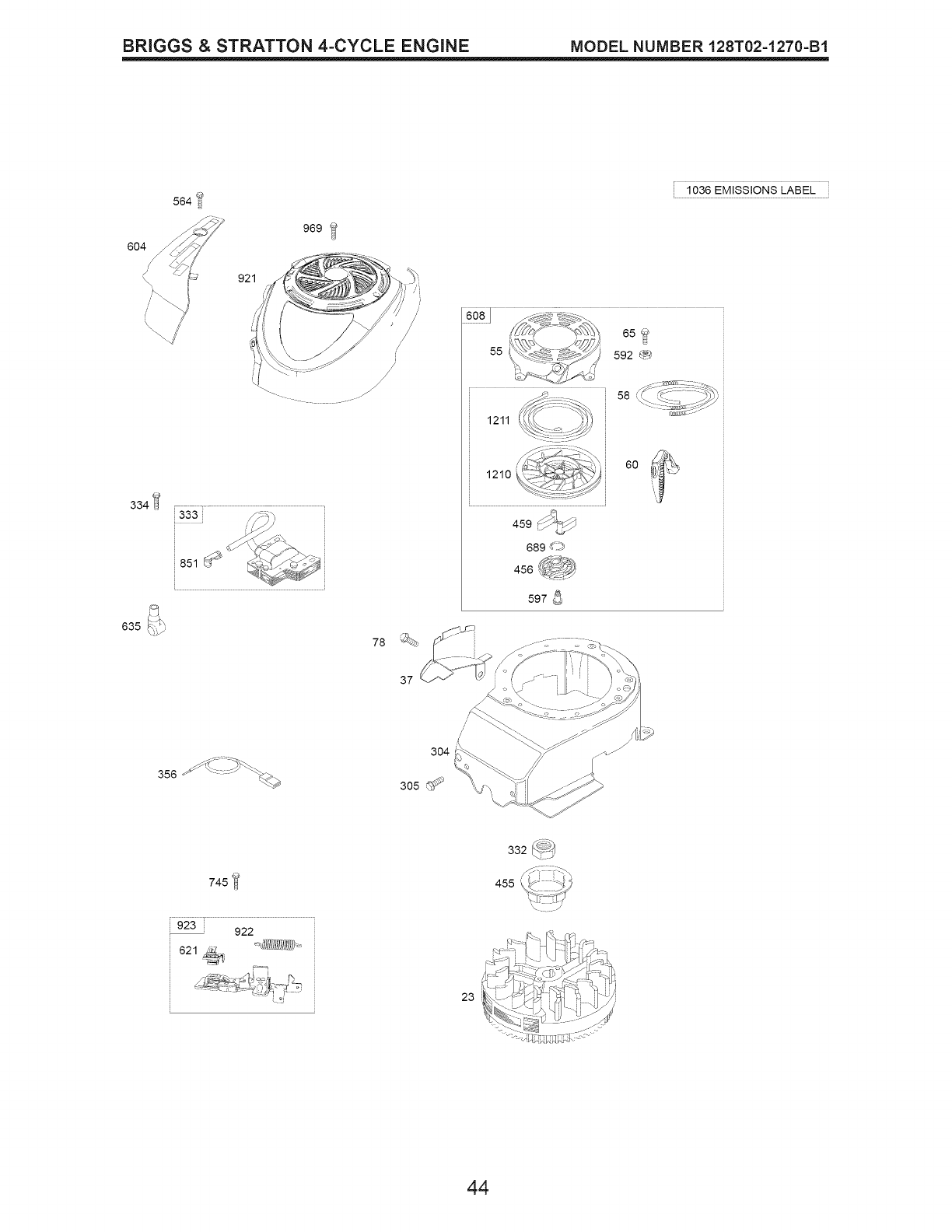 Page 44 of Craftsman Lawn Mower 917.374350 User Guide