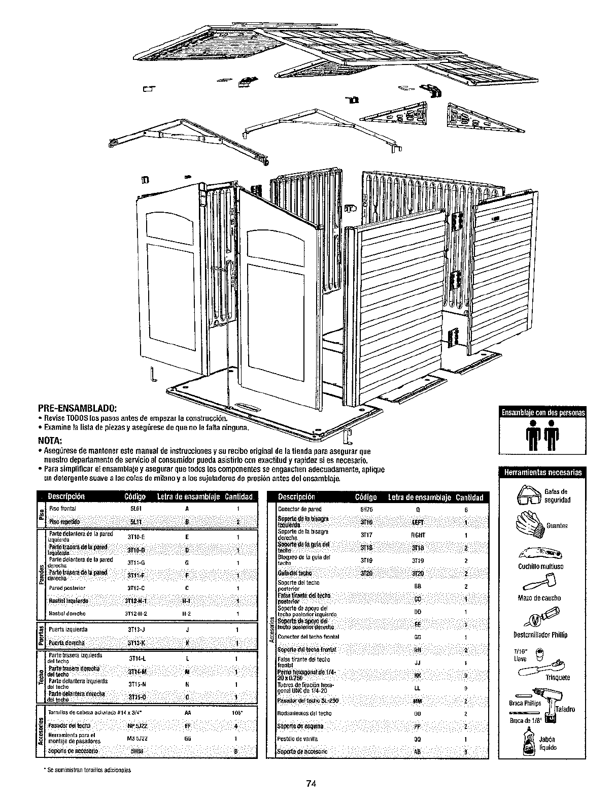 Page 2 of Rubbermaid Outdoor Storage 5L40 User Guide