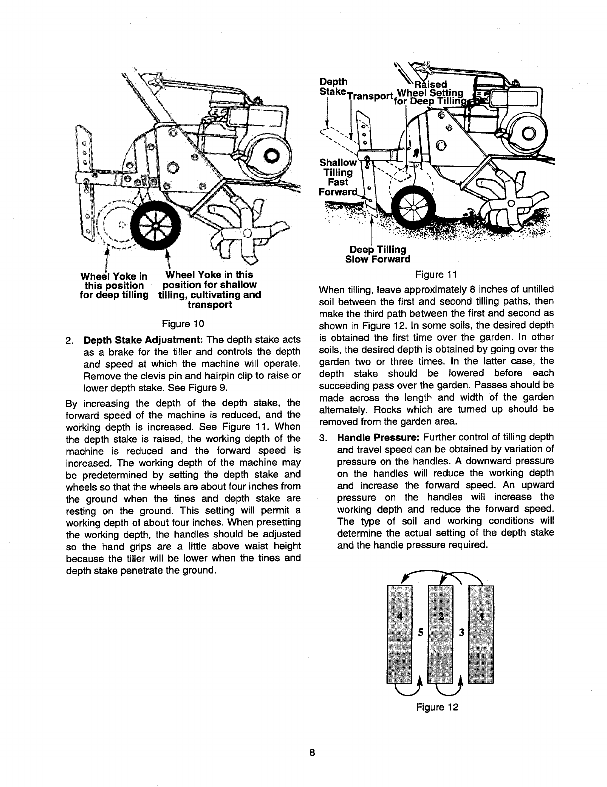Page 8 of MTD Tiller 21A-340-100 User Guide