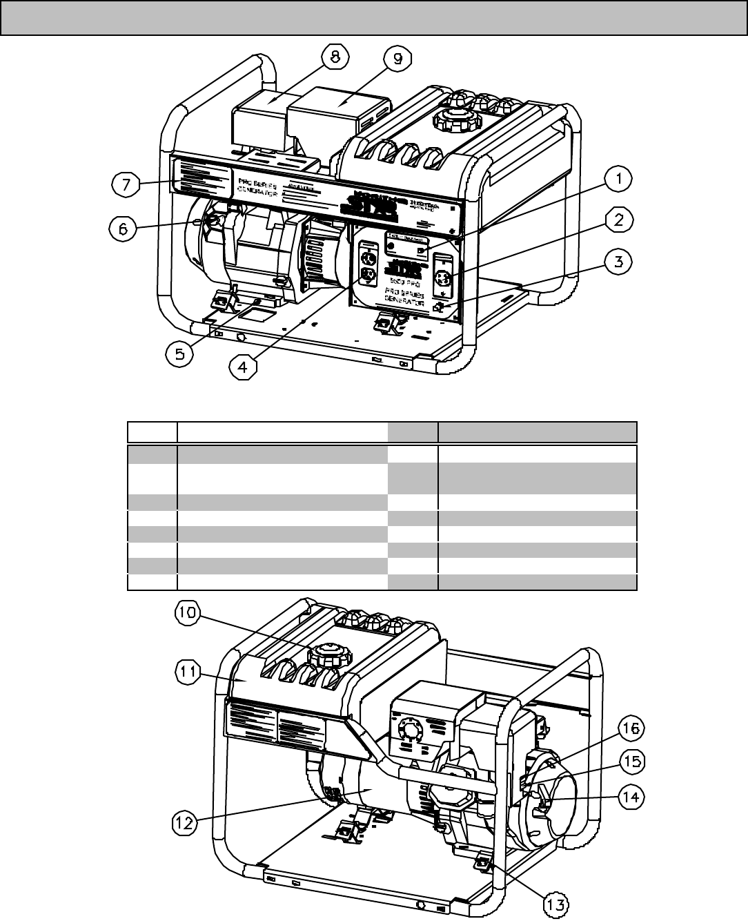 Page 4 of North Star Portable Generator 5500 User Guide