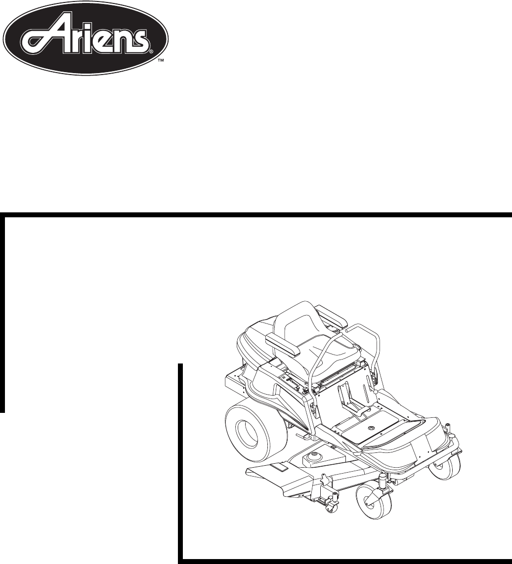 Ariens Lawn Mower 915017-EZR 1542 User Guide
