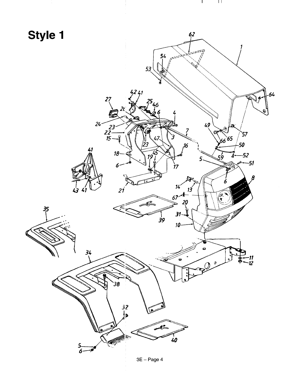 Page 4 of MTD Lawn Mower 660 thru 679 User Guide
