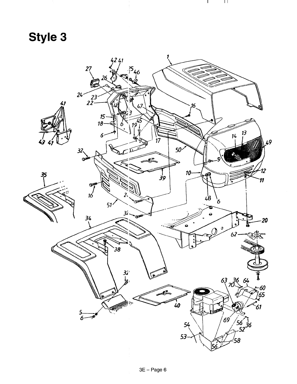 Page 6 of MTD Lawn Mower 660 thru 679 User Guide