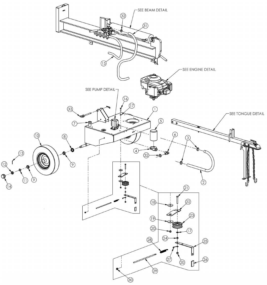 Page 10 of Swisher Log Splitter LS10528H User Guide