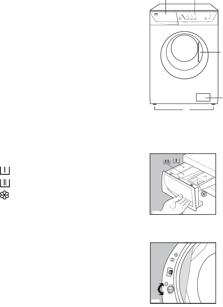 Page 5 of Zanussi Washer ZWF 1241 W User Guide