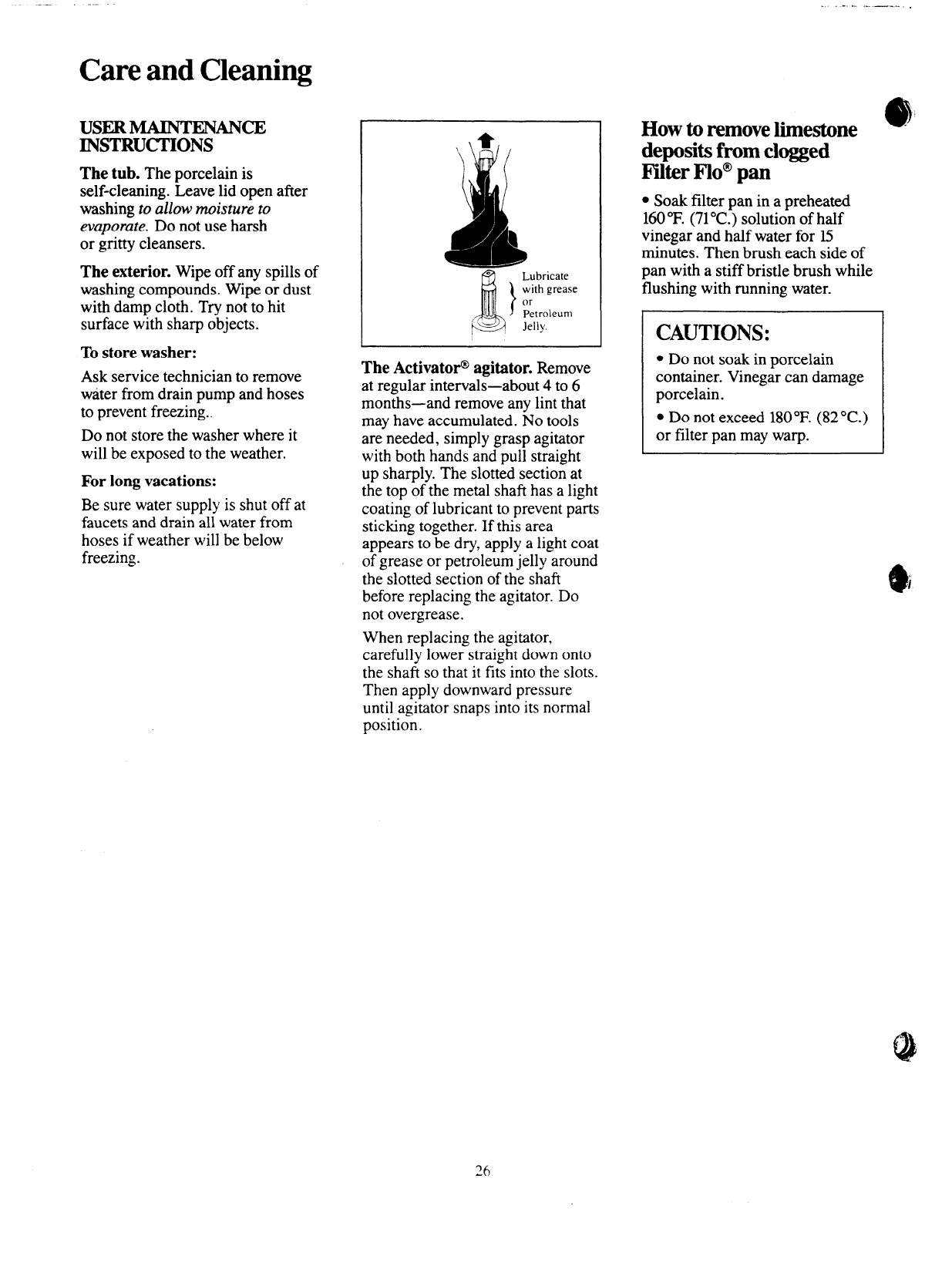 Page 26 of GE Washer 113D5497P183 User Guide