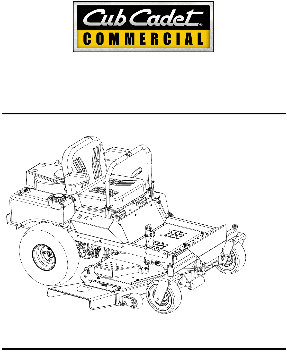 Cub Cadet Lawn Mower 23HP ENFORCER 54 User Guide