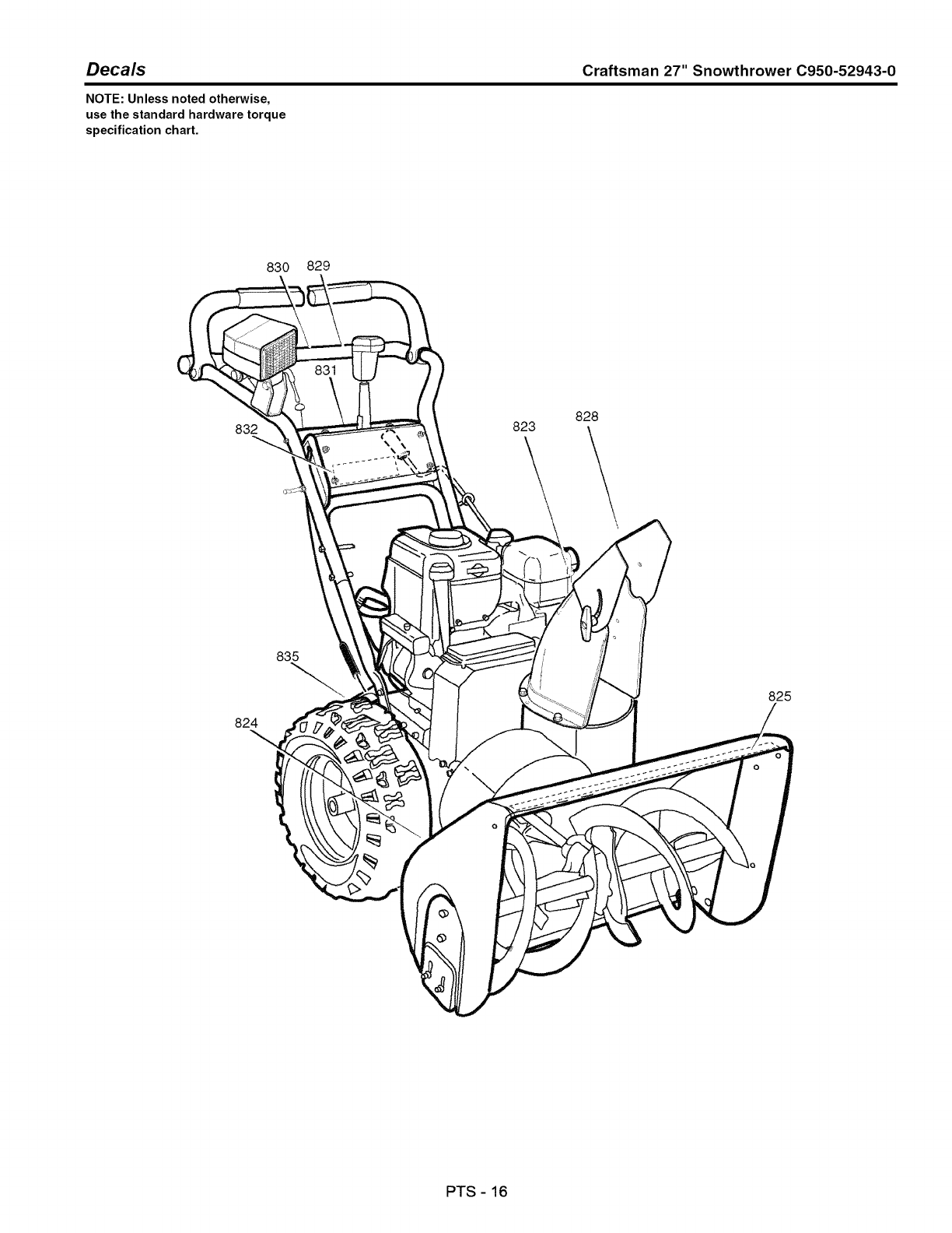 Page 54 of Craftsman Snow Blower C950-52943-0 User Guide