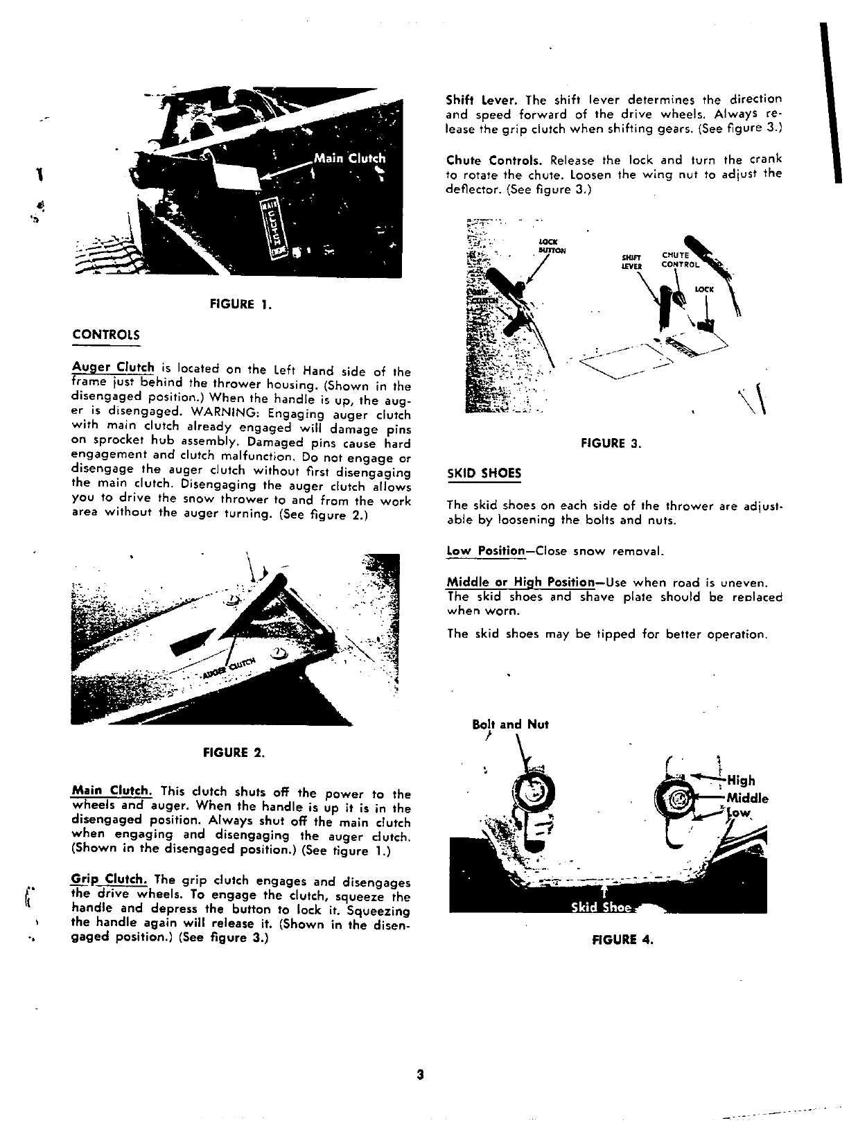 Page 3 of MTD Snow Blower 314-830A User Guide