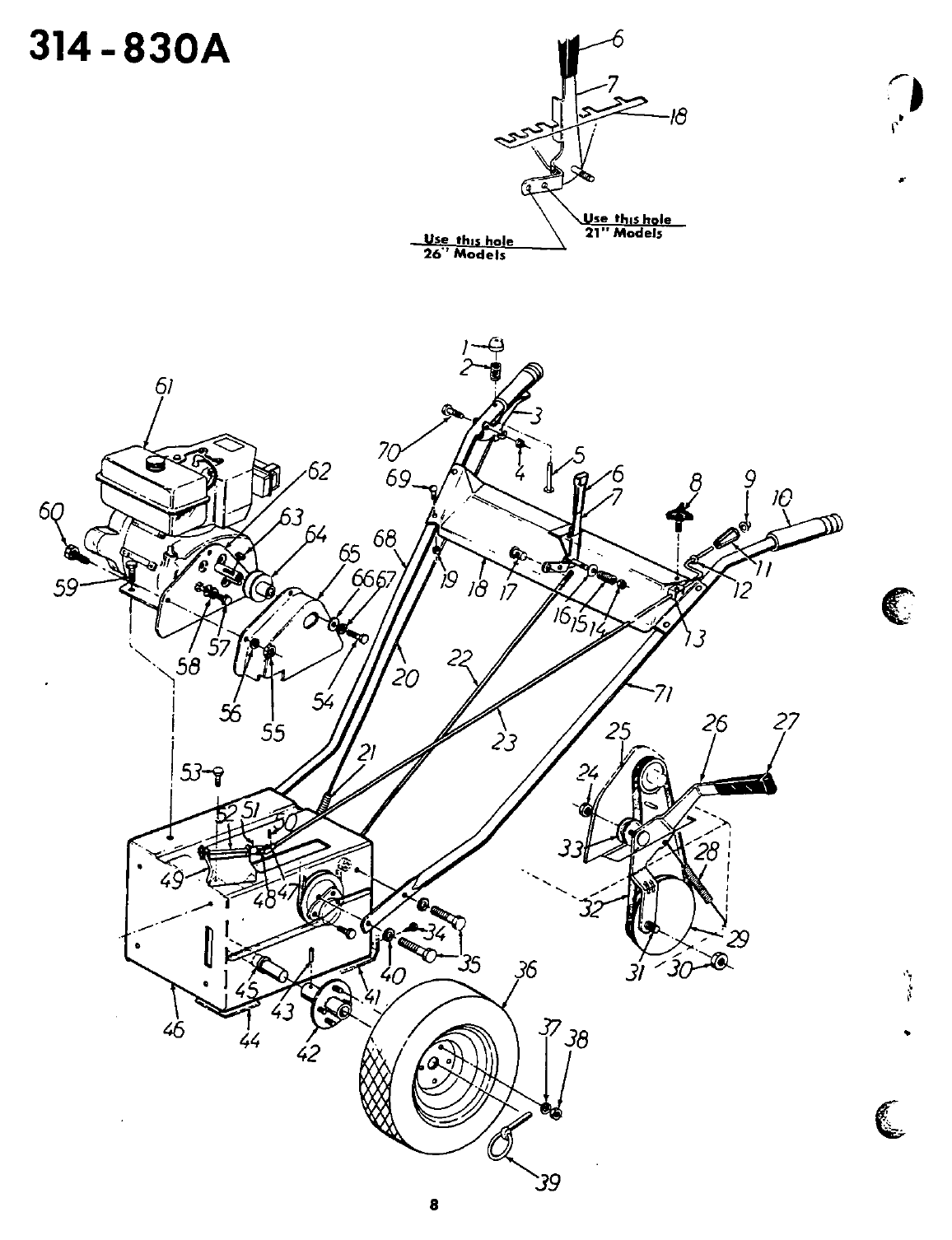 Page 8 of MTD Snow Blower 314-830A User Guide