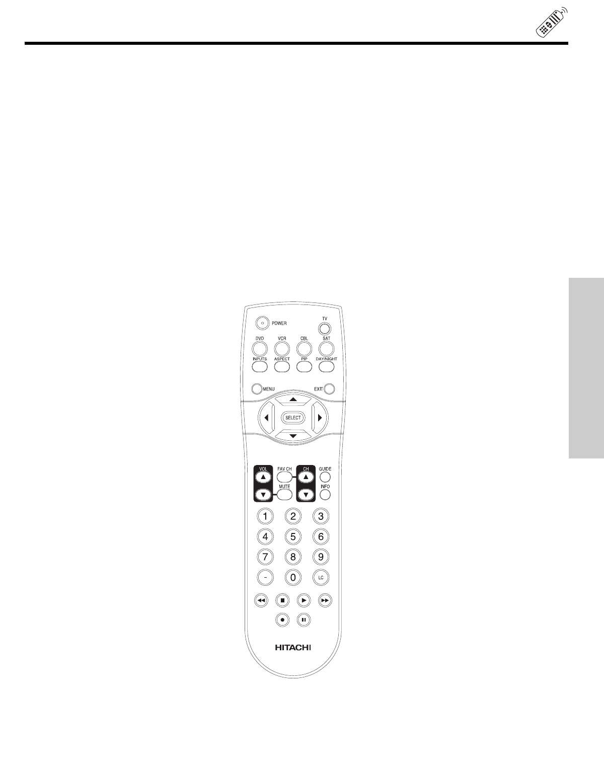 Page 19 of Hitachi Projection Television 51F510 User Guide