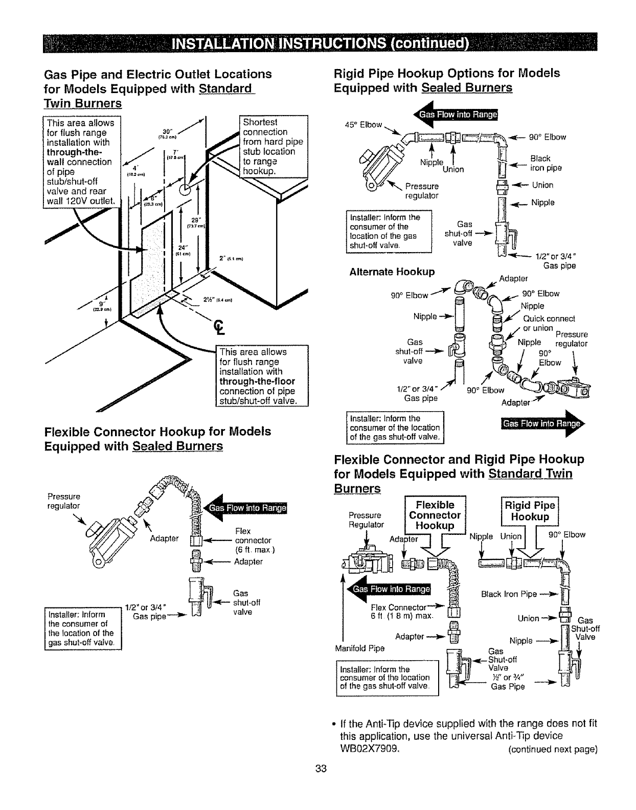 Page 33 of Kenmore Range 362.61020 User Guide