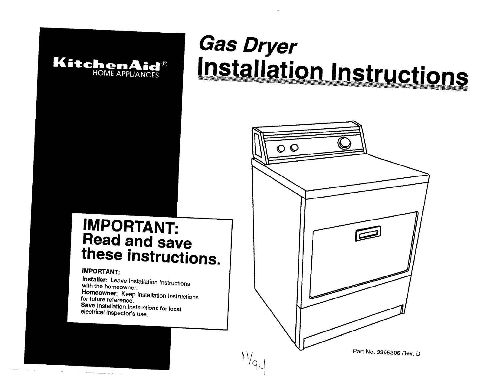 KitchenAid Clothes Dryer Clothes Dryer User Guide