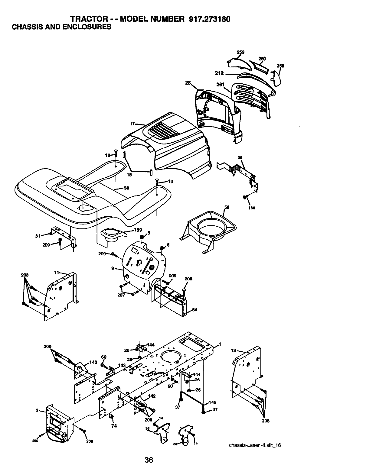 Page 36 of Craftsman Lawn Mower 917.273180 User Guide