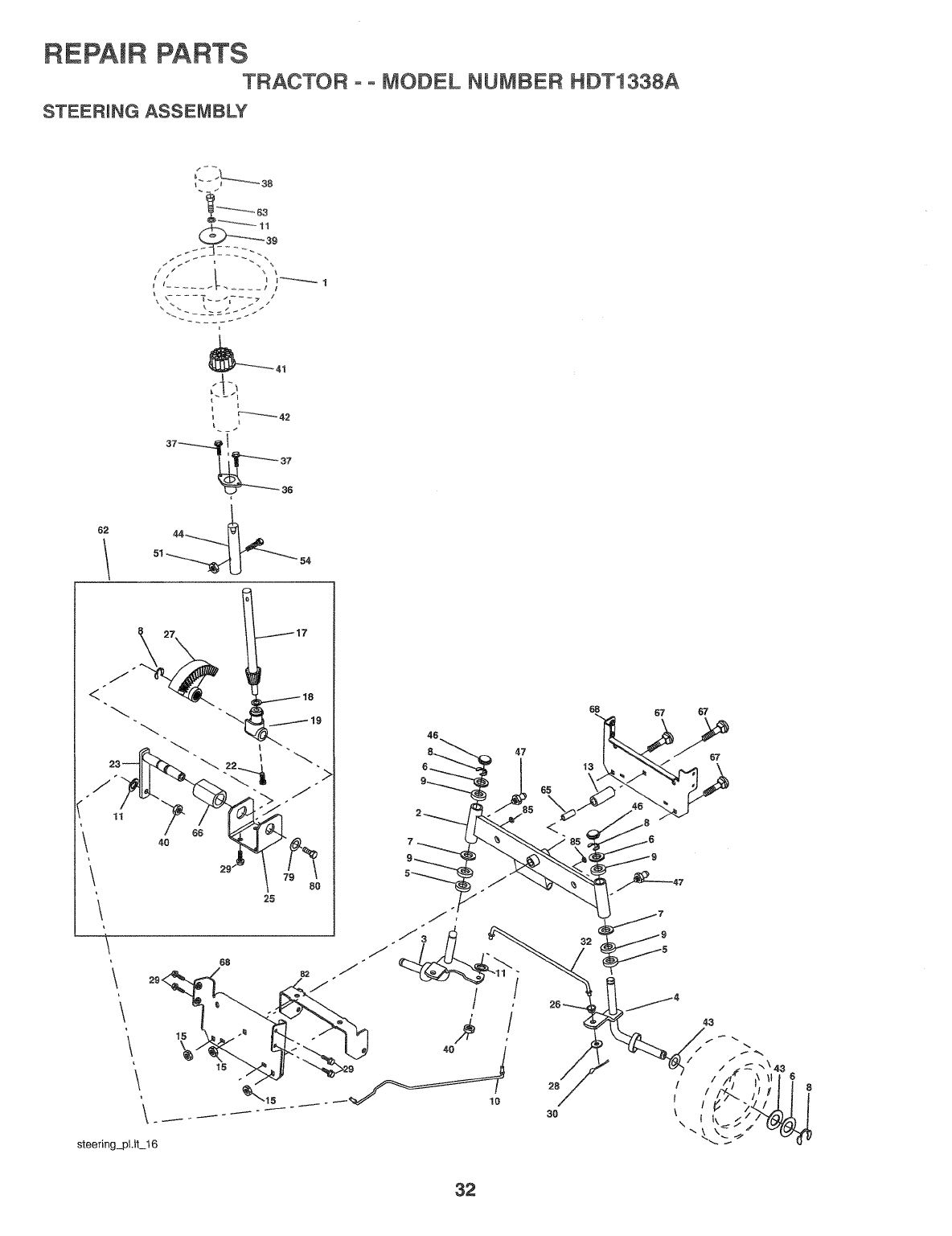 Page 32 of Weed Eater Lawn Mower HDT1338A User Guide