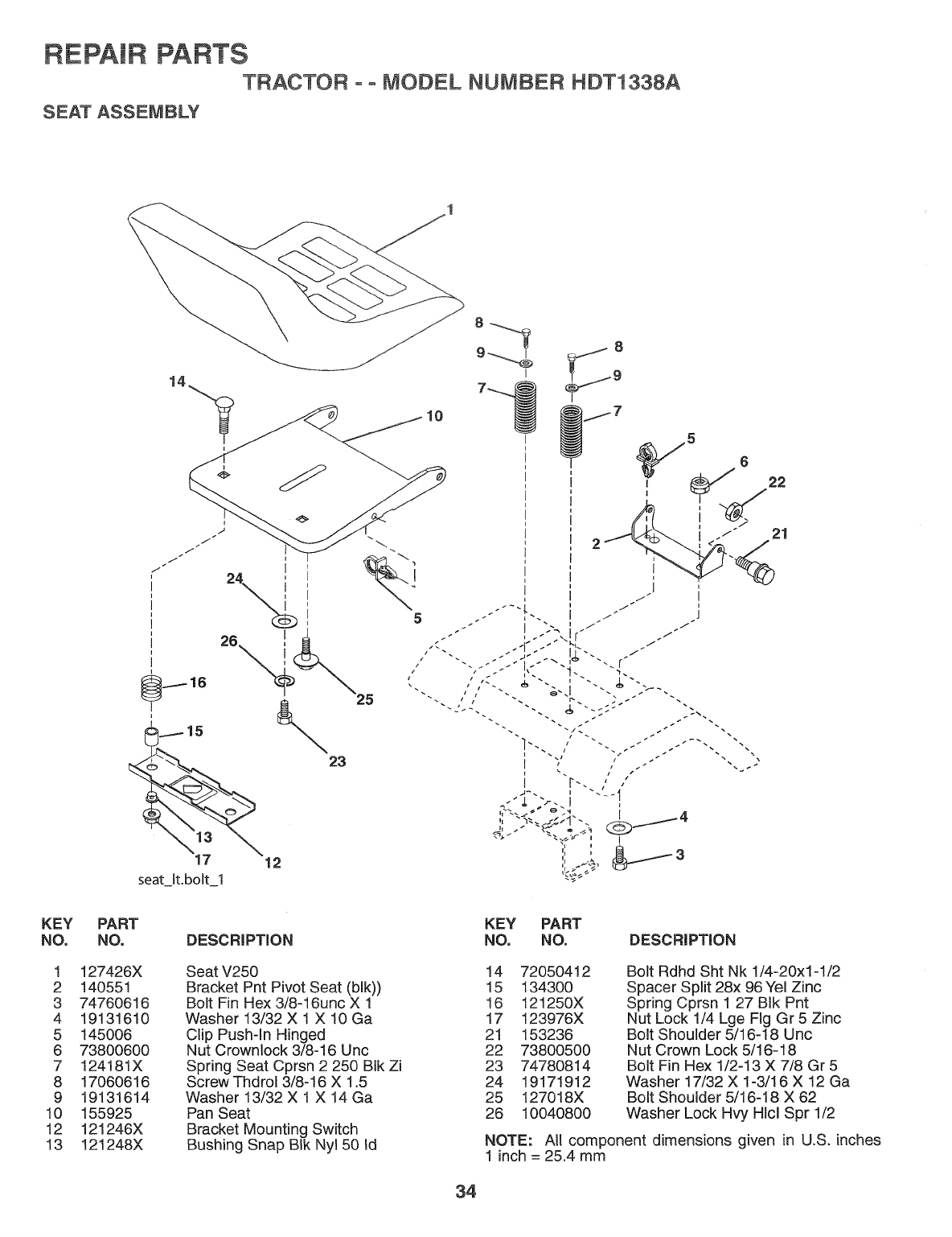 Page 34 of Weed Eater Lawn Mower HDT1338A User Guide