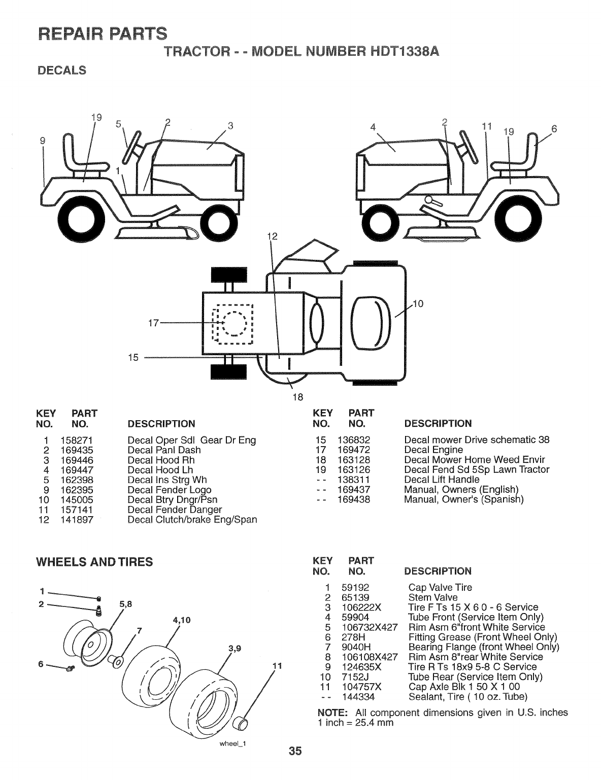 Page 35 of Weed Eater Lawn Mower HDT1338A User Guide