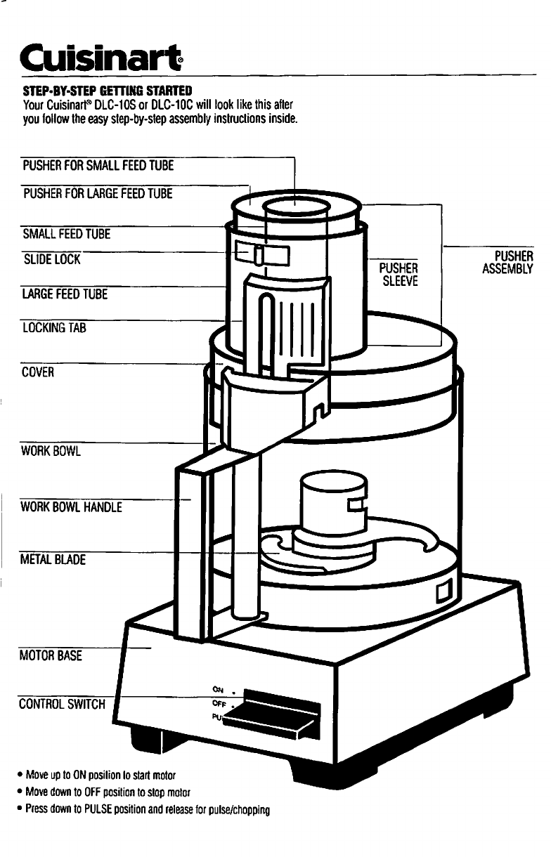 Cuisinart Food Processor DLC-10S User Guide