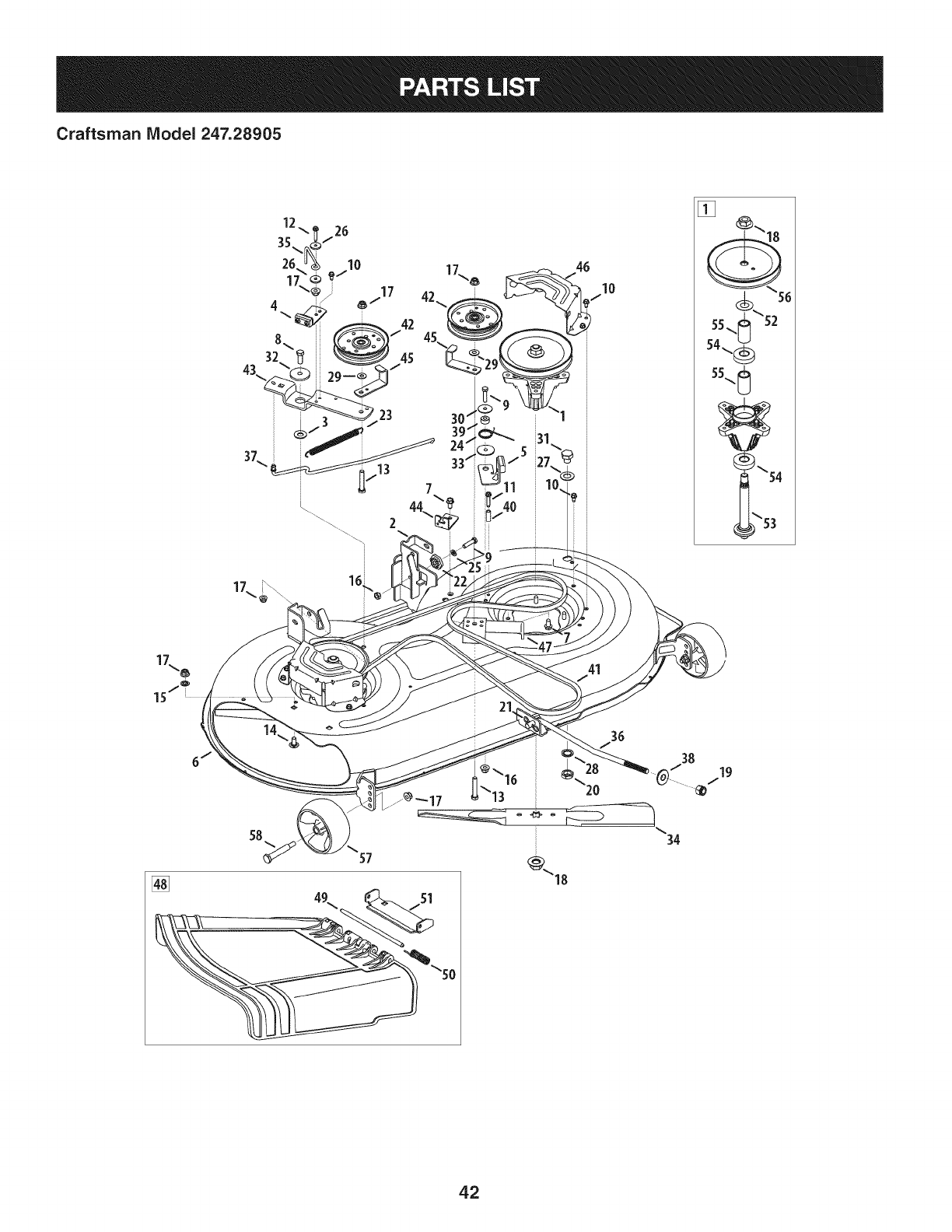 Page 42 of Craftsman Lawn Mower 247.28905 User Guide