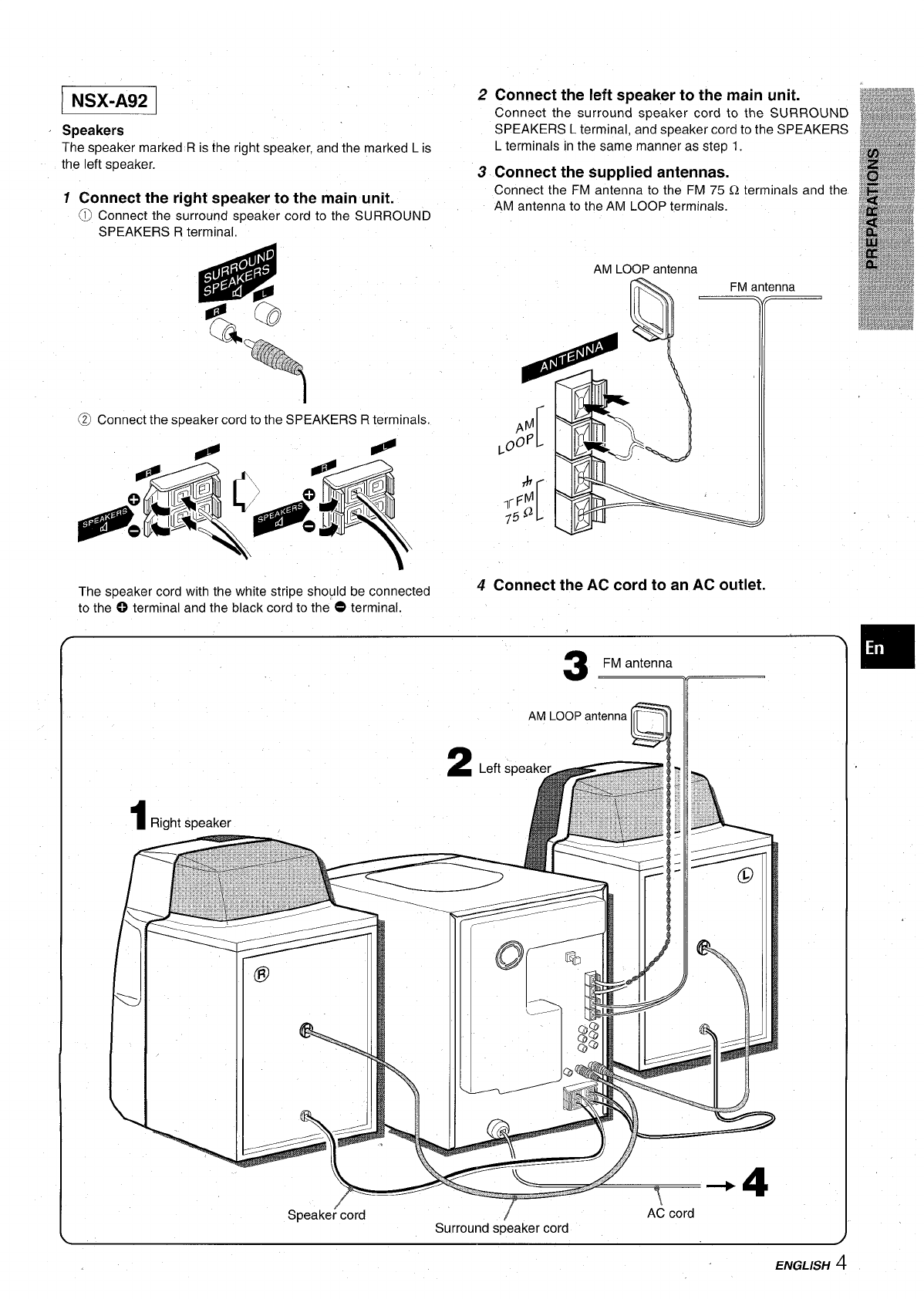 Page 5 of Aiwa Stereo System CX-NA92 User Guide