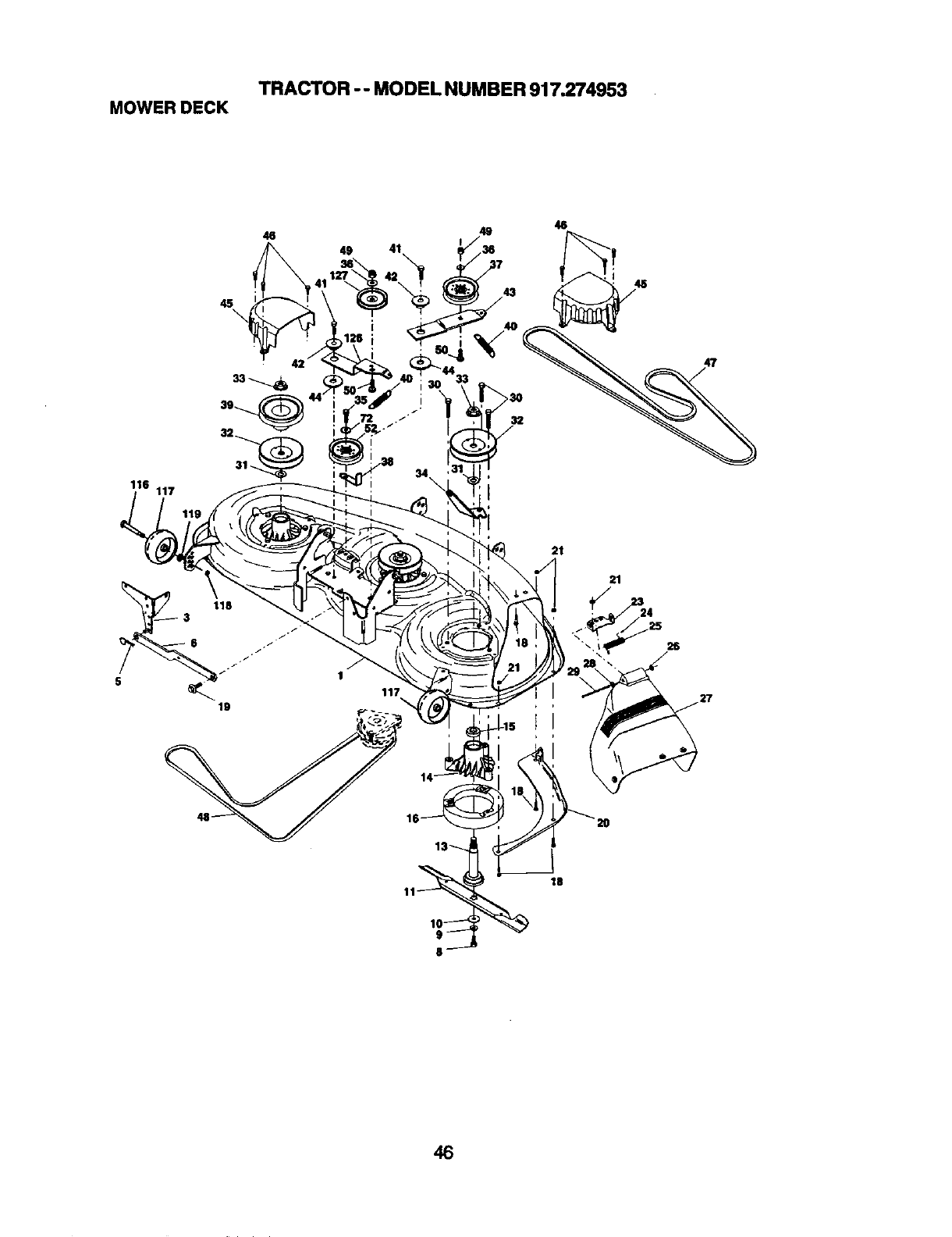 Page 46 of Craftsman Lawn Mower 917.274953 User Guide