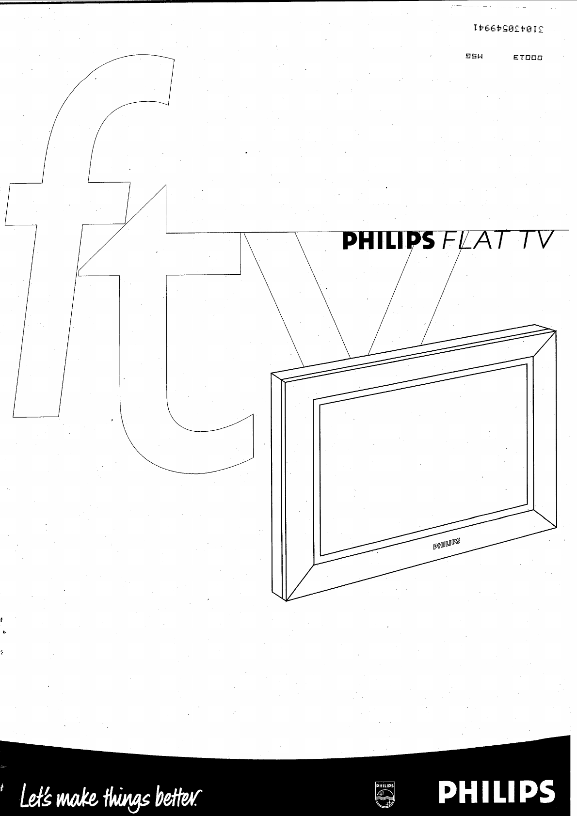 Philips Flat Panel Television 310430549941 User Guide