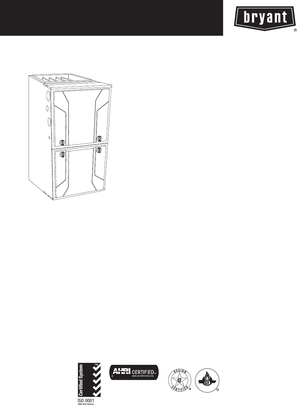 Bryant Furnace 915S User Guide