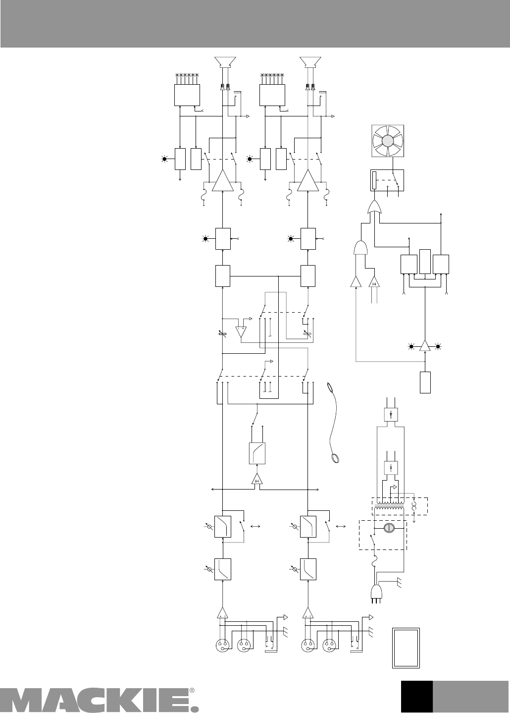 Page 4 of Mackie Stereo Amplifier M1400/M1400i User Guide