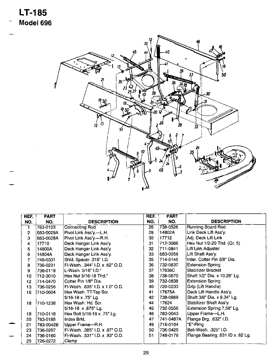 Page 29 of Bolens Lawn Mower LT-185 User Guide
